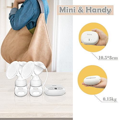 Breast Pump,Electric Double Breast Feeding Pumps Comfort Breastfeeding Breast Pump Milk Pump,with 9 Levels Breast Massager Suction by JINGOU (Image #6)