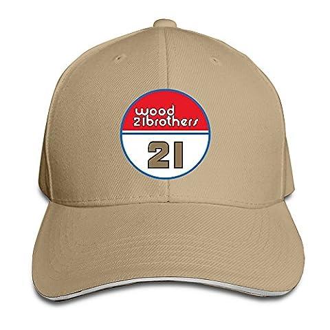 LKSJSADJ Wood Brothers Racing 21 Ryan Blaney Men Women Sandwich Cap Natural (Flick Hat)