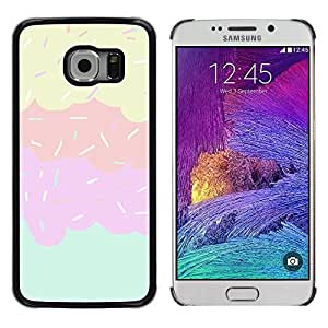 Planetar® ( Sprinkles Ice Cream Sweet Kids Pink ) Samsung Galaxy S6 EDGE / SM-G925 / SM-G925A / SM-G925T / SM-G925F / SM-G925I Fundas Cover Cubre Hard Case Cover