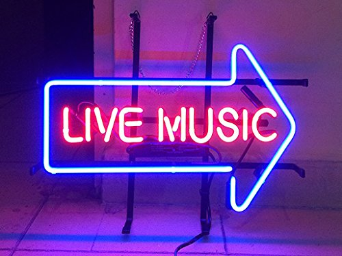 Urby™ 17×14 L ive Music Custom Handmade Real Glass Neon Sign Beer Bar Light 3-Year Warranty-Excellent  Unique Handicraft! U88