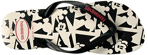 Havaianas Mens Disney Stylish Sandal Flip Flop White/Black m7y1wAyJyU