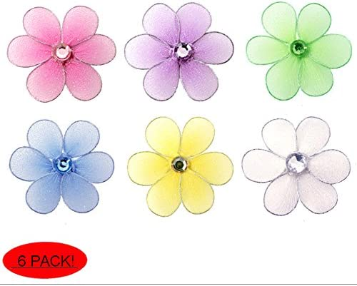 Table Scatters Scrapbooking Crafts Silver Foil Daisy Flower Embellishments