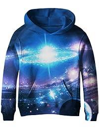 Teen Boys' Galaxy Fleece Sweatshirts Pocket Pullover Hoodies 4-14Y