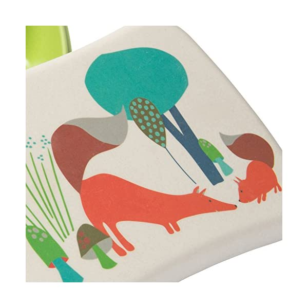 BIOZOYG Bento Lunch Box in bambù per Bambini I Porta Pranzo con Extra Scatola Snack I Scatola Merenda a Motivo - Volpe… 5 spesavip