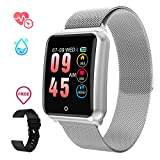 Sports Smart Watch for Men Women with Heart Rate Blood Pressure Sleep Monitor IP67 Waterproof Activity Tracker Calorie Pedometer Counter bluetooth Smartwatch Fitness Tracker for Android iOS Huawei