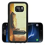 Luxlady Premium Samsung Galaxy S7 Aluminum Backplate Bumper Snap Case IMAGE 36536117 Passover background wine and matzoh jewish passover bread over wooden