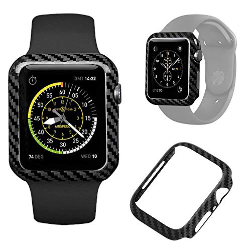 - Authentic Carbon Fiber Watch Case for Apple Watch Series 4 40mm,Durable Shockproof iWatch case High-Gloss/Twill Weave Finish (40mm)