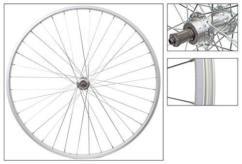 Wheel Rear 27 x 1-1/4 Silver, 36H 126mm QR