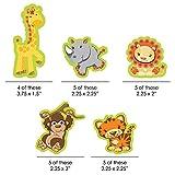 Big Dot of Happiness Funfari - Fun Safari Jungle - DIY Shaped Baby Shower or Birthday Party Cut-Outs - 24 Count