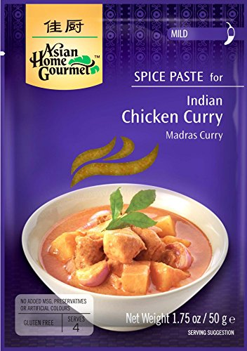 Indian Chicken Curry (Asian Home Gourmet Indian Chicken Curry Spice Paste, 1.75oz. (Pack of 3))