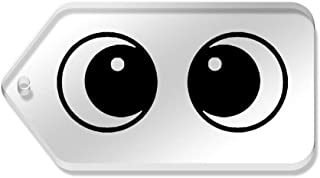Azeeda 10 x 'Paire d'yeux' etiquettes de Bagage / Cadeau (TG00058435)