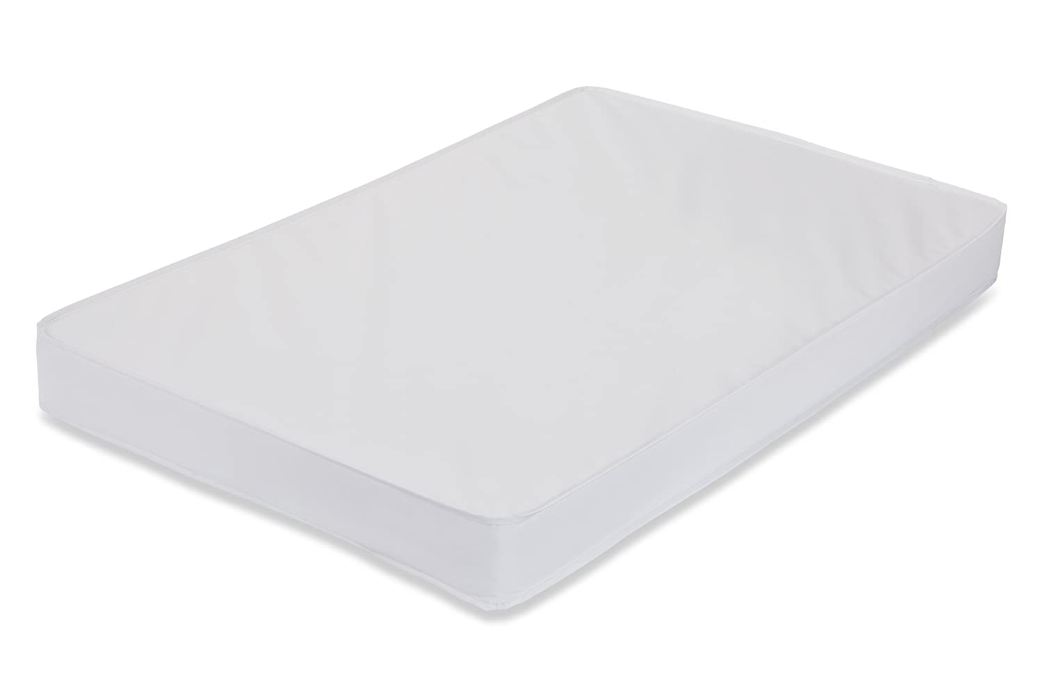 "LA Baby 3"" Waterproof Mini/Portable Crib Mattress Pad with Easy to Clean Cover, for Non-Full Size Cribs Only - Made in USA"