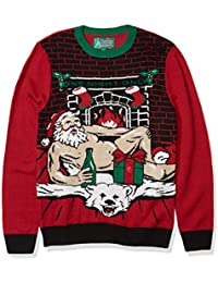 Men's Assorted Light-up Xmas Crew Neck Sweaters with Multi-Colored Led Flashing Lights
