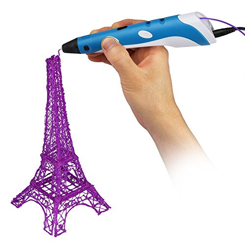 Soyan 3D Printing Pen for Doodling, Prototyping Design and Art Making, Easy to Use, 3D Pen for Beginners (Blue) by Soyan (Image #2)