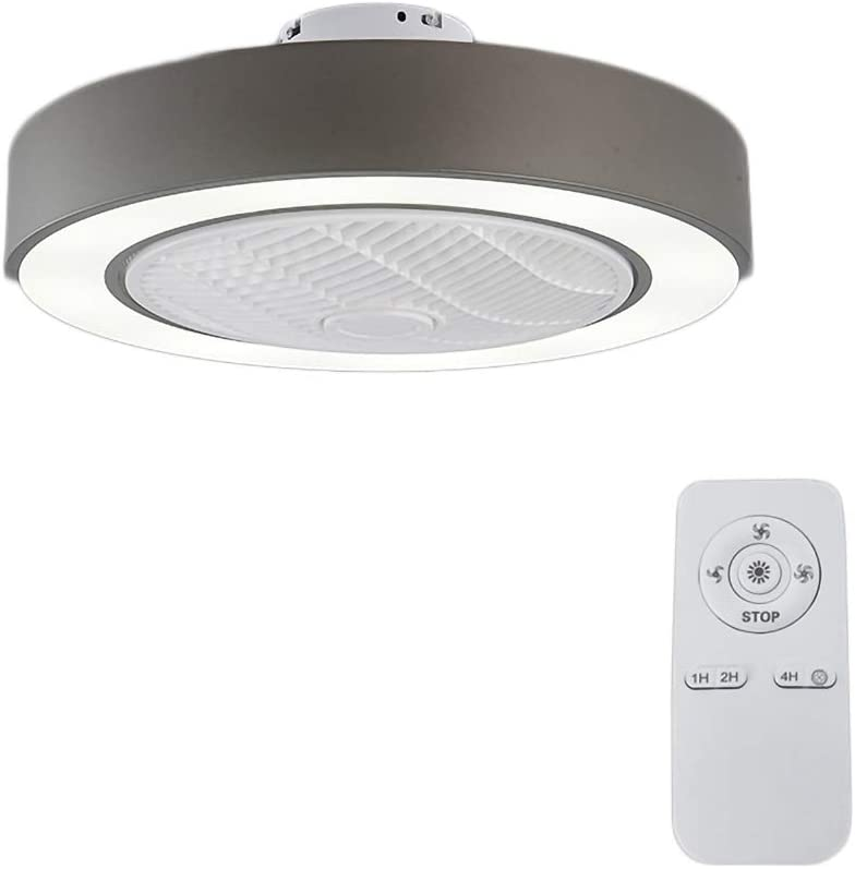 Invisible Mute Ceiling Fan Lamp/Contemporary Living Room Remote Control LED Dimmable Fan Lights Bedroom Living Room