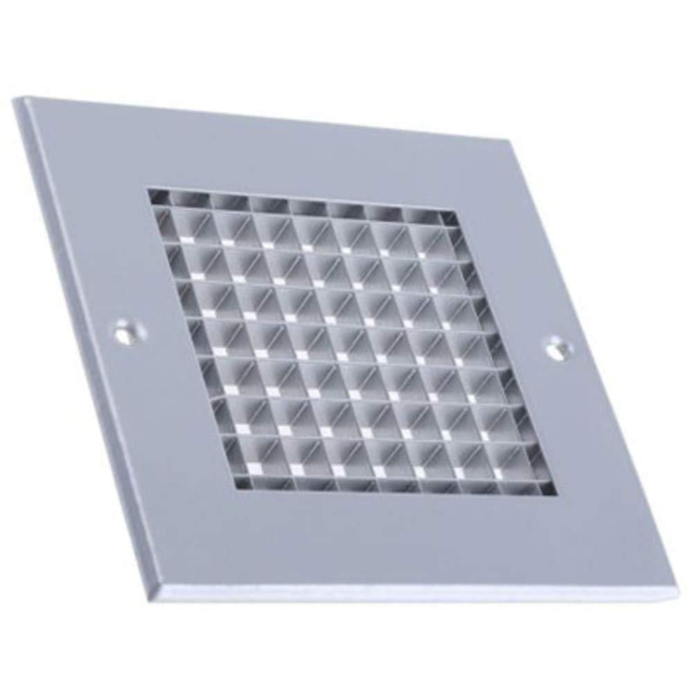 Slv aluminium eggcrate grille; 125x125mm Pack of 2