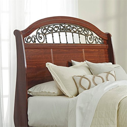 Signature Design by Ashley B105-77 Fairbrooks Estate Sleigh Headboard, Queen - Cherry Sleigh Headboard