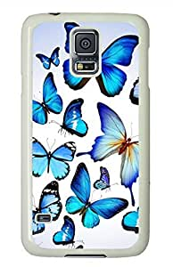 Butterflies 3 White Hard Case Cover Skin For Samsung Galaxy S5 I9600