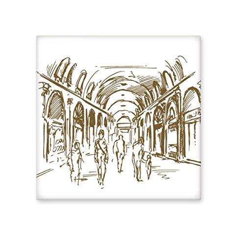 Corridor Sketch Landscape Country City Landmark Illustration Pattern Ceramic Bisque Tiles for Decorating Bathroom Decor Kitchen Ceramic Tiles Wall Tiles hot sale 2017