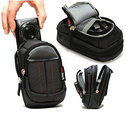 (Navitech Black Digital Camera Case Bag For The OLYMPUS TG5 Black)