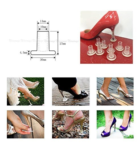 formali Protector tacco tappo 4 copertura per matrimoni stiletto Heel nbsp;pair SStaste Savers alto gare scarpe con occasioni SawRxq