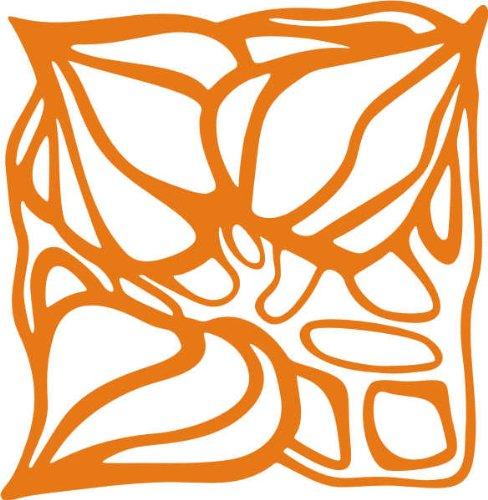 WANDTATTOO / Wandaufkleber - e70 stylisches Blätterwerk 120x117 cm - orange