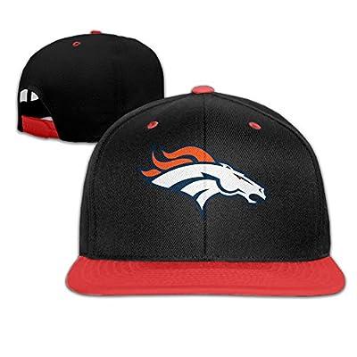 Duola Denver Bronc Fashion Adjustable Unisex Hiphop Cap Baseball Hat Red