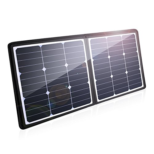 POWERADD [High Efficiency] 50W Solar Charger, 18V 12V SUNPOWER Solar Panel for Laptop, iPhone X /...