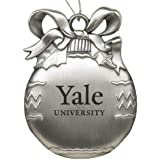 Yale University - Pewter Christmas Tree Ornament - Silver
