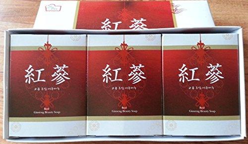 Corée du ginseng rouge Savon réglé pour Body & Face (3pc / paquet)
