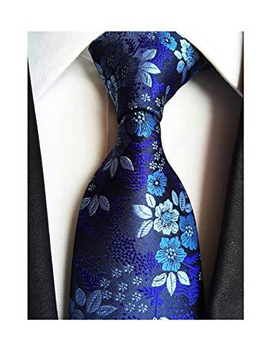 (Men's Boys Silk Navy Blue Tie Paisley Pattern 3.15