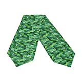 Oreayn Banana Leaf Table Runner 70 inch Green Weddings Parties Kitchen Table Dressers Living Room End Tables, Tropical Leaf Table Cloth Runner Dining Outdoor Dinner Coffee Table