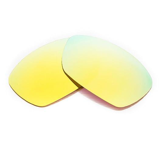 Amazon.com: Walleva Polarized Golden Replacement Lenses for Oakley ...