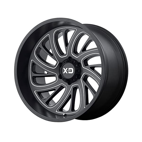 XD-Series-by-KMC-Wheels-XD826-Surge-Satin-Black-Wheel-with-Milled-Finish-20x128x170-44mm-Offset