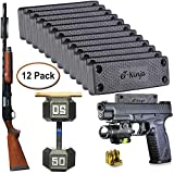 Magnetic Gun Mount Holster 53lb. - Gun Magnet Mount - Discreet Tactical Concealed Carry Handgun Holder for Car Truck Under Desk Bedside Wall w/Anti Scratch Rubber Coating (12)