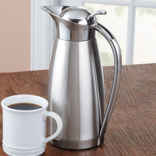Oggi Clarisa Satin Finish Stainless Steel 54 Ounce Thermal Vacuum Carafe by Oggi (Satin Finish Thermal Carafe)