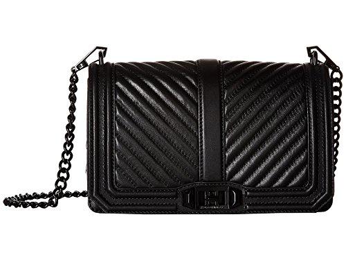 Rebecca Minkoff Women's Chevron Love Cross Body Bag, Black, One Size