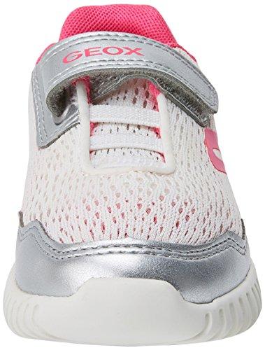 Plateado Geox white silver Para B Waviness Bebés Zapatillas B nfzvwqT
