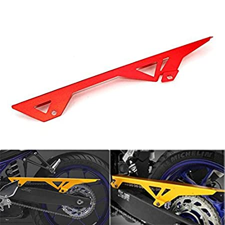 JFG RACING CNC Aluminum Chain Guard Cover Shield Protection for Yamaha YZF R3 R25 2015 2016 Red