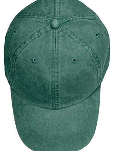 Dyed Hat Kids - Adams Youth Optimum Pigment Dyed Twill Cap (Forest) (ALL)