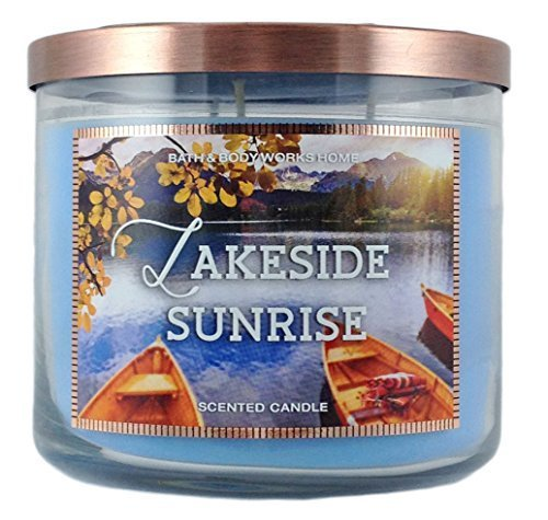 Bath & Body Works Home Lakeside Sunrise Scented Candle 3 Wick 14.5 Oz by Bath & Body Works