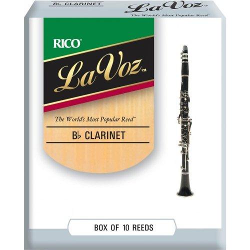 La Voz Bb Clarinet Reeds, Strength Medium, 10-pack