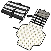 Portable Baby Changing Pad - Diaper Mat and Organizer Kit for Travel - Table Top or Floor - Station and Wipeable Clutch Set - Wide Protector to Change Newborn Babies Diapers for Boy or Girl