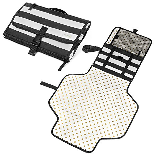 Portable Baby Changing Pad - Diaper Mat and Organizer Kit fo