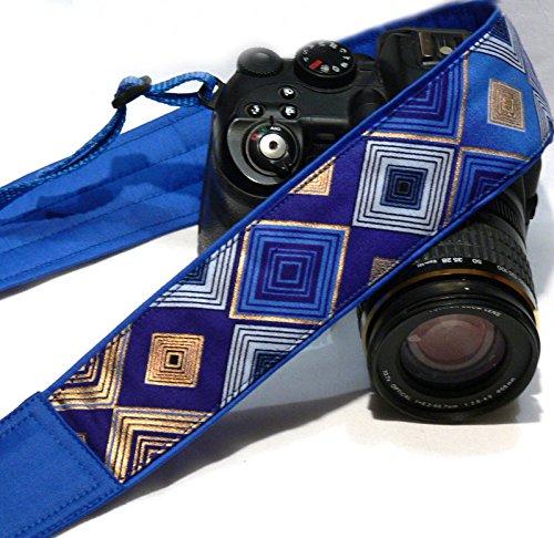 Camera Strap. DSLR Camera Strap. Gold Blue Camera Strap. Padded Camera Strap. Fashion Camera strap. Camera Accessories; 109
