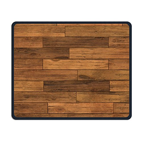 Gaming Mouse Pad Custom, Abstract Chic Trendy Black Walnut Hardwood Flooring ()