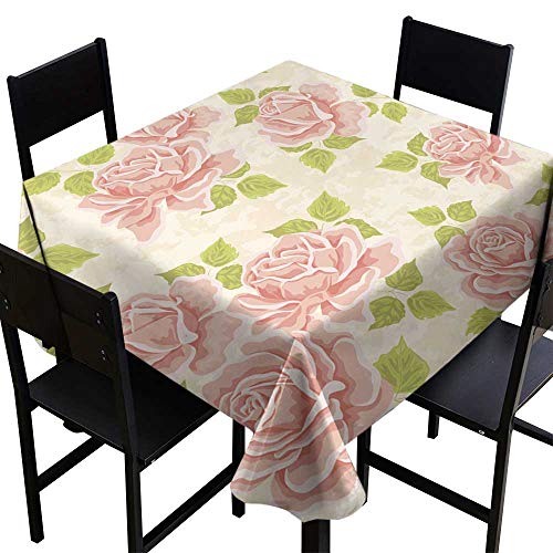 Decor Collection Table ClothsSeamless Wallpaper Pattern with roses4,W50 x L50 for Umbrella Table ()