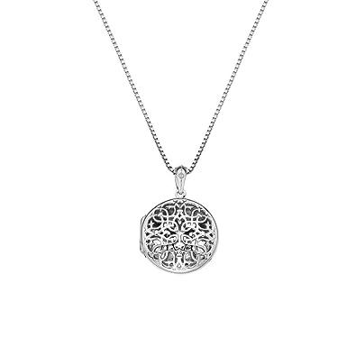 Hot Diamonds Women 925 Sterling Silver Diamond Pendant Necklace of Length 45cm DP672 zOzfP