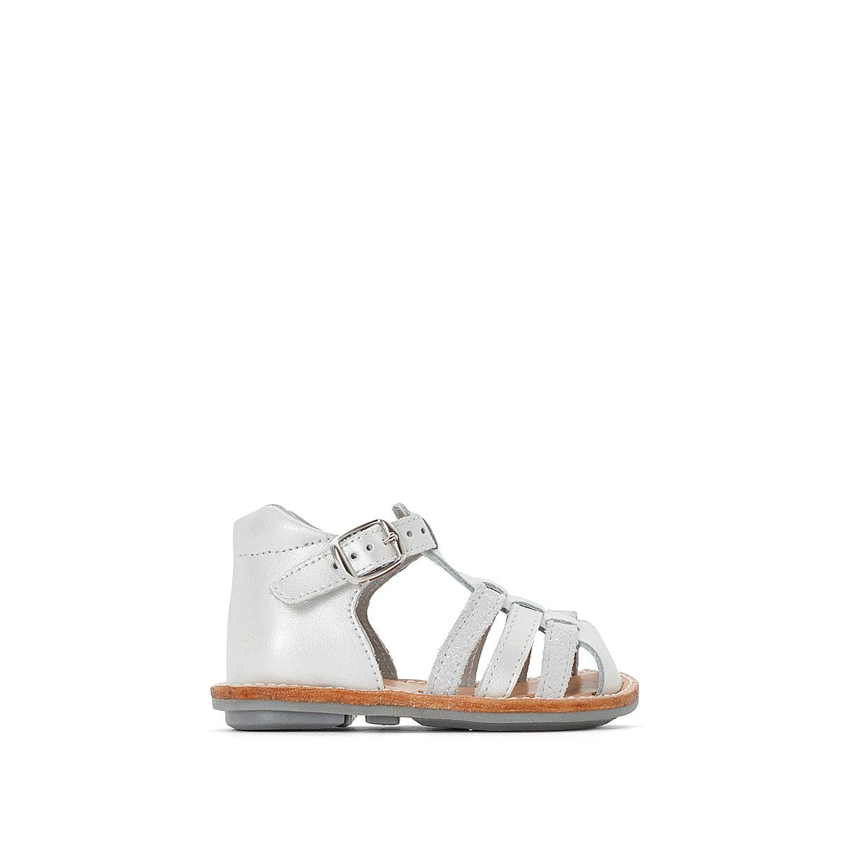 Sizes 1-9.5 La Redoute Collections Big Girls Leather Sandals