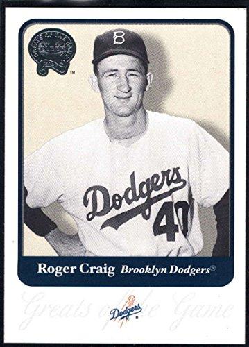 2001 Dodgers Game - Baseball MLB 2001 Fleer Greats of the Game #61 Roger Craig NM-MT Dodgers